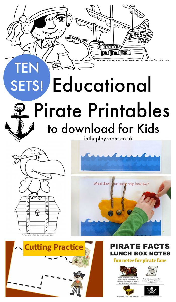 graphic regarding Pirates Printable Schedule named 13 Exciting Pirate Crafts for Young children (and 10 Pirate Printables way too