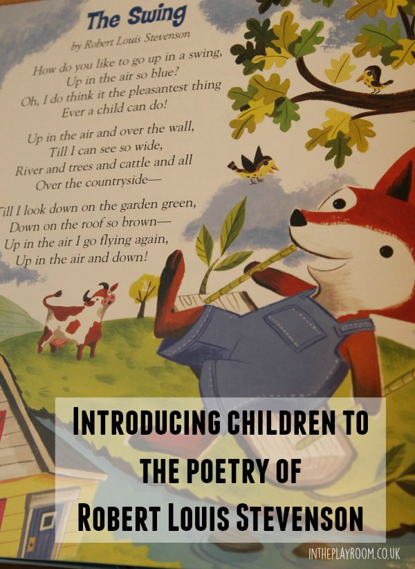 Introducing children to the poems of Robert Louis Stevenson with ideas for learning about rhyme and lots of related resources