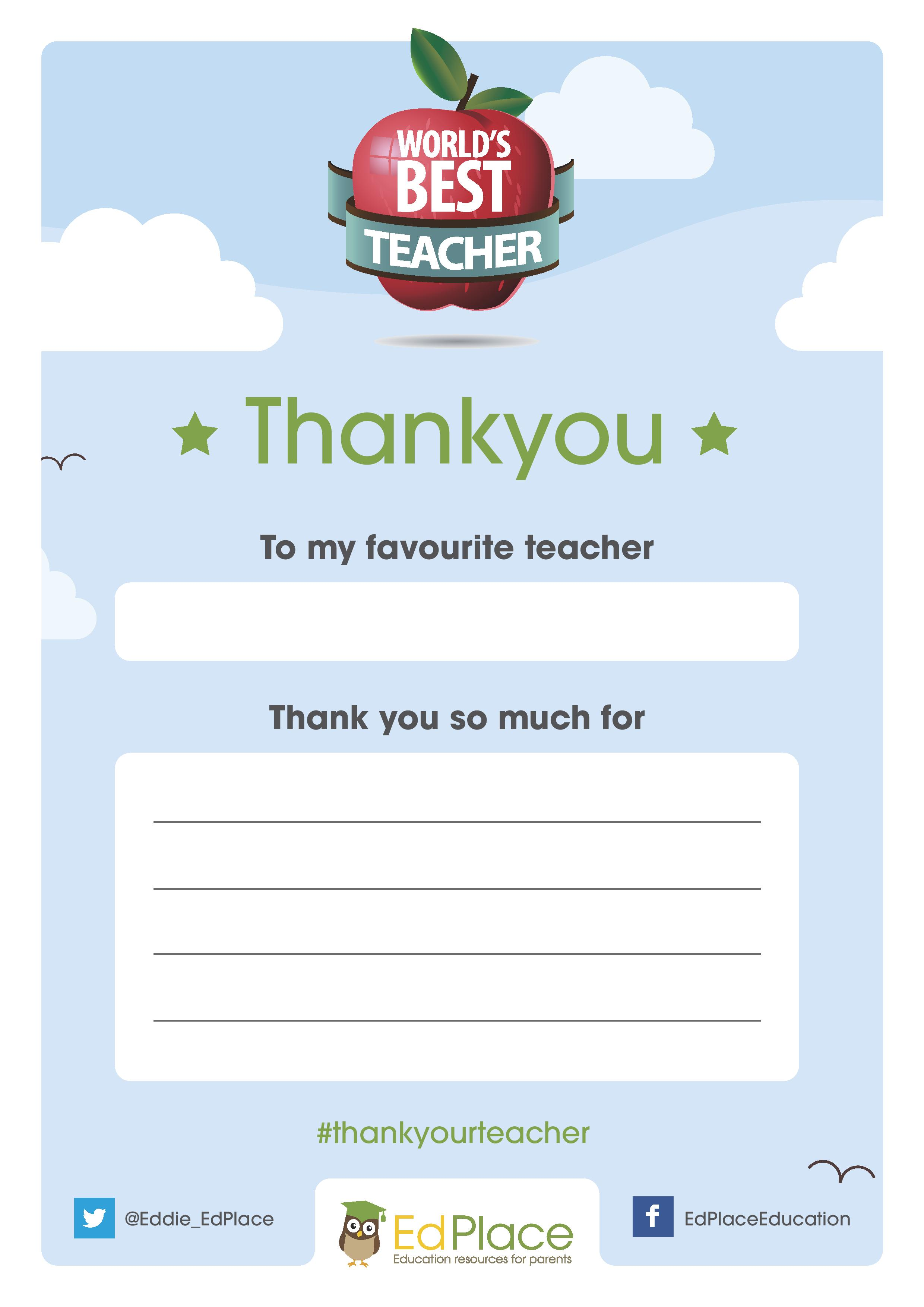 Thank a Special Teacher for World Teachers' Day - In The