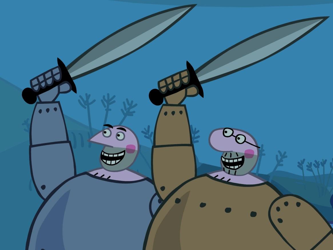 Big Knights - Big Knights shouting - the King!