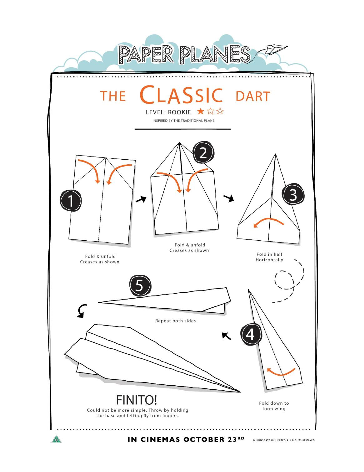 How to make a simple classic paper plane. Origami for kids, fun to make and race!
