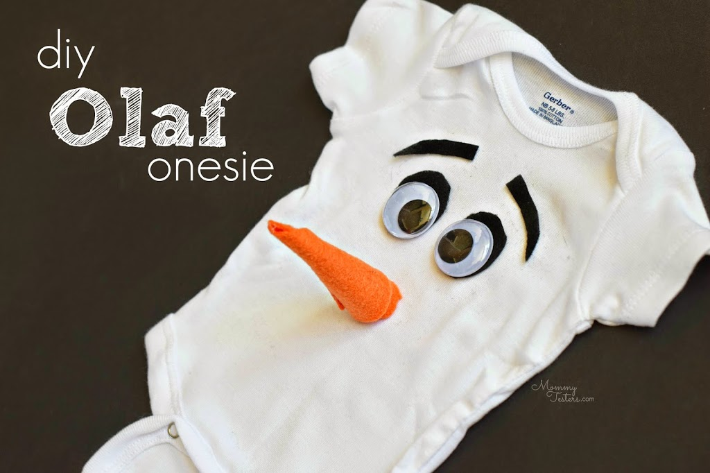 diy baby olaf onesie from mommy testers