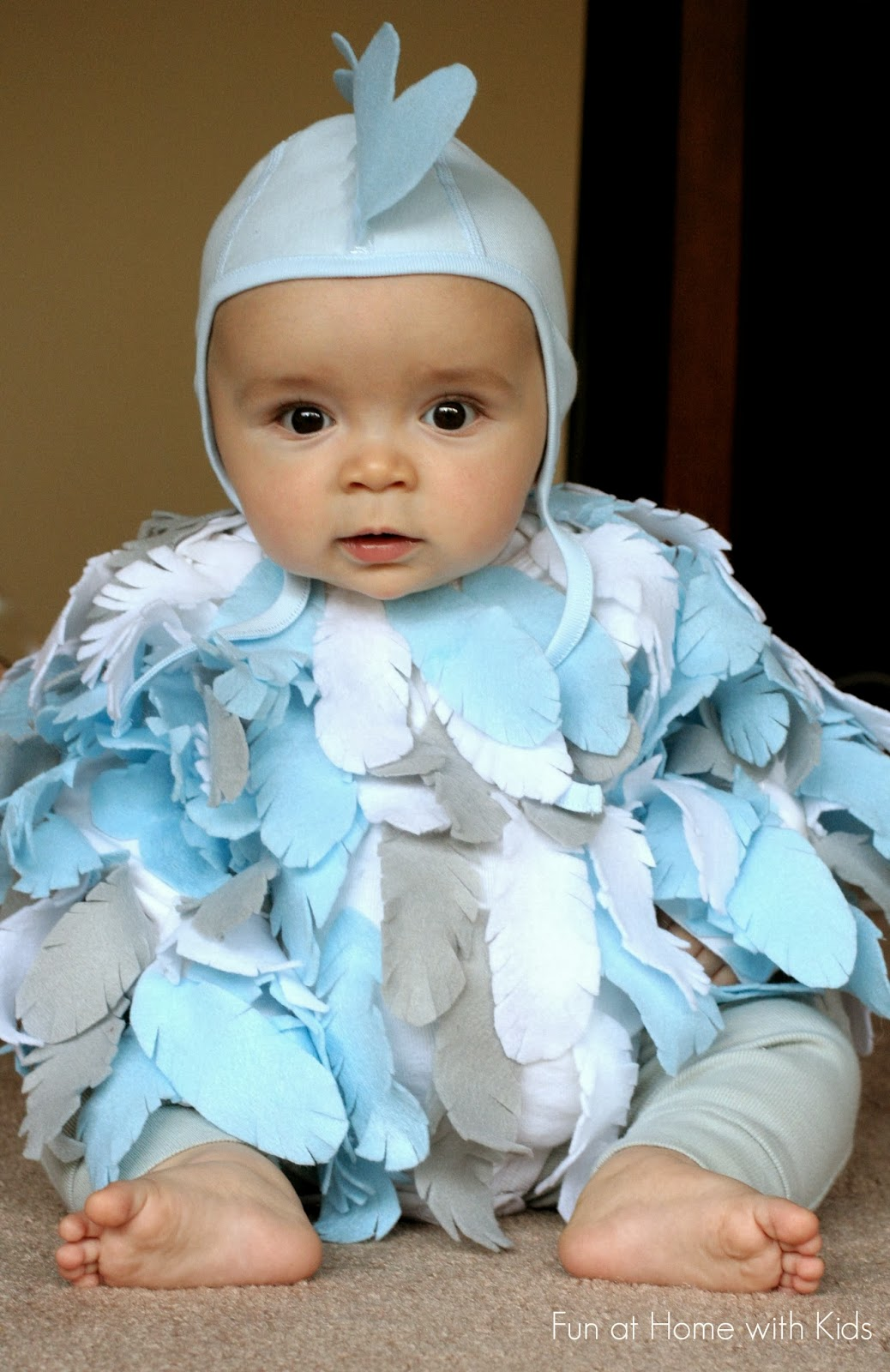 DIY Baby Chicken Halloween Costume from Fun at Home with Kids