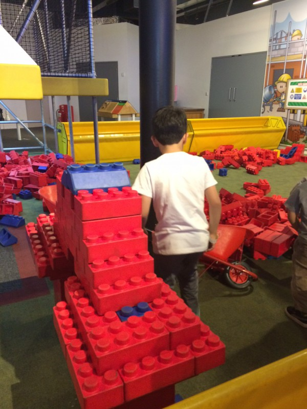 building with giant lego at bristol science centre