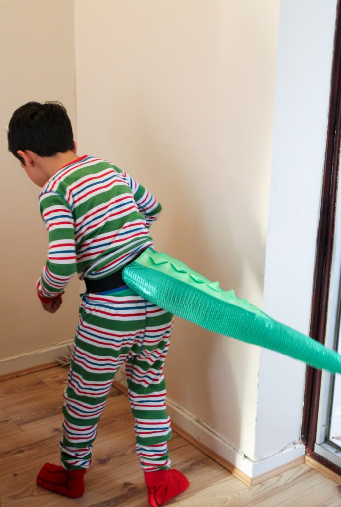 TellTails shinosaur tail for a dinosaur costume