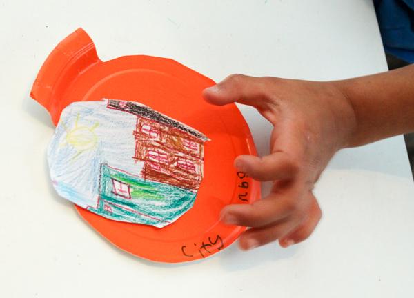city design paper plate