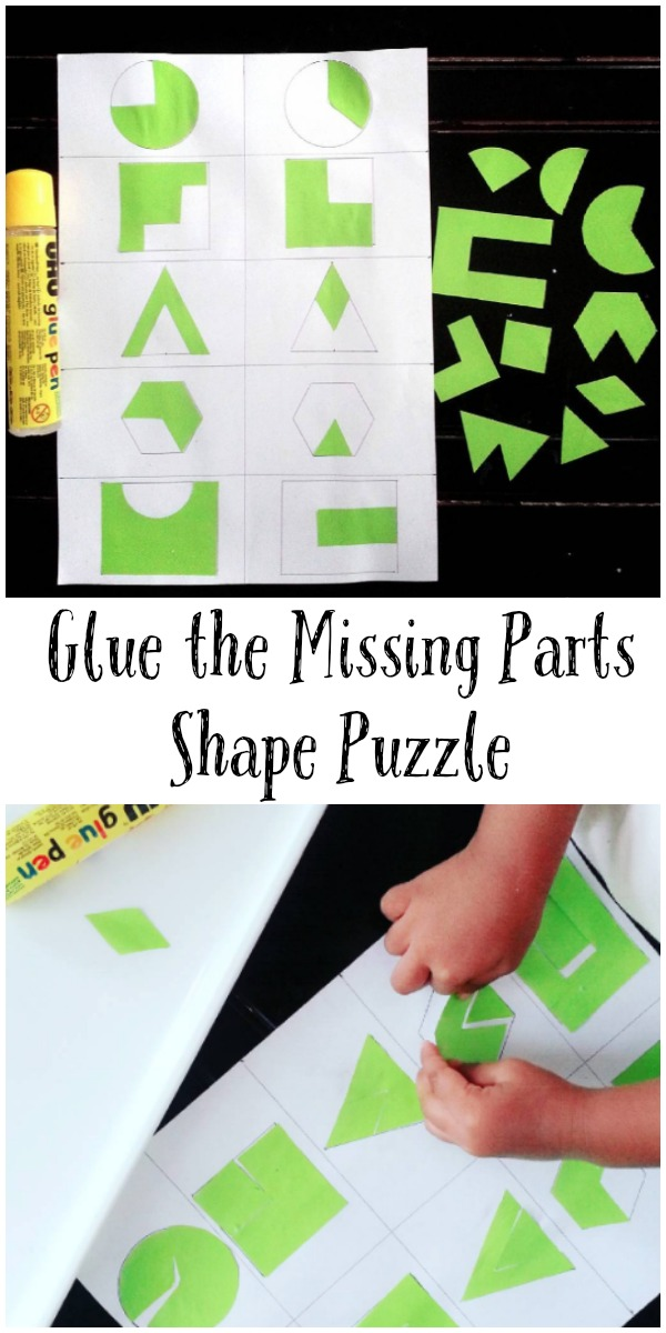 Lets glue and stick the missing parts. Simple educational activity to do with kids - easy to put together