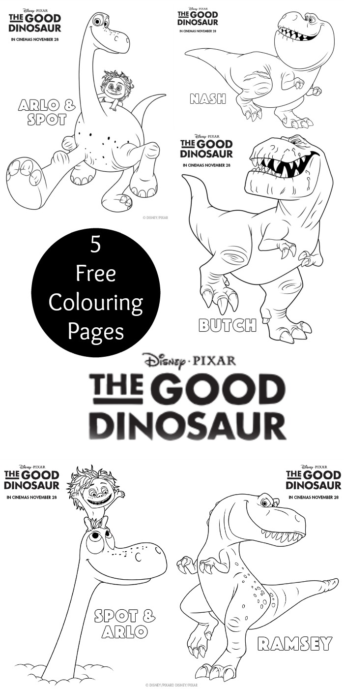 the good dinosaur colouring pages  in the playroom
