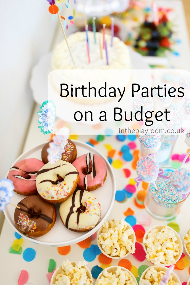 four different options to consider for holding a birthday party on a budget