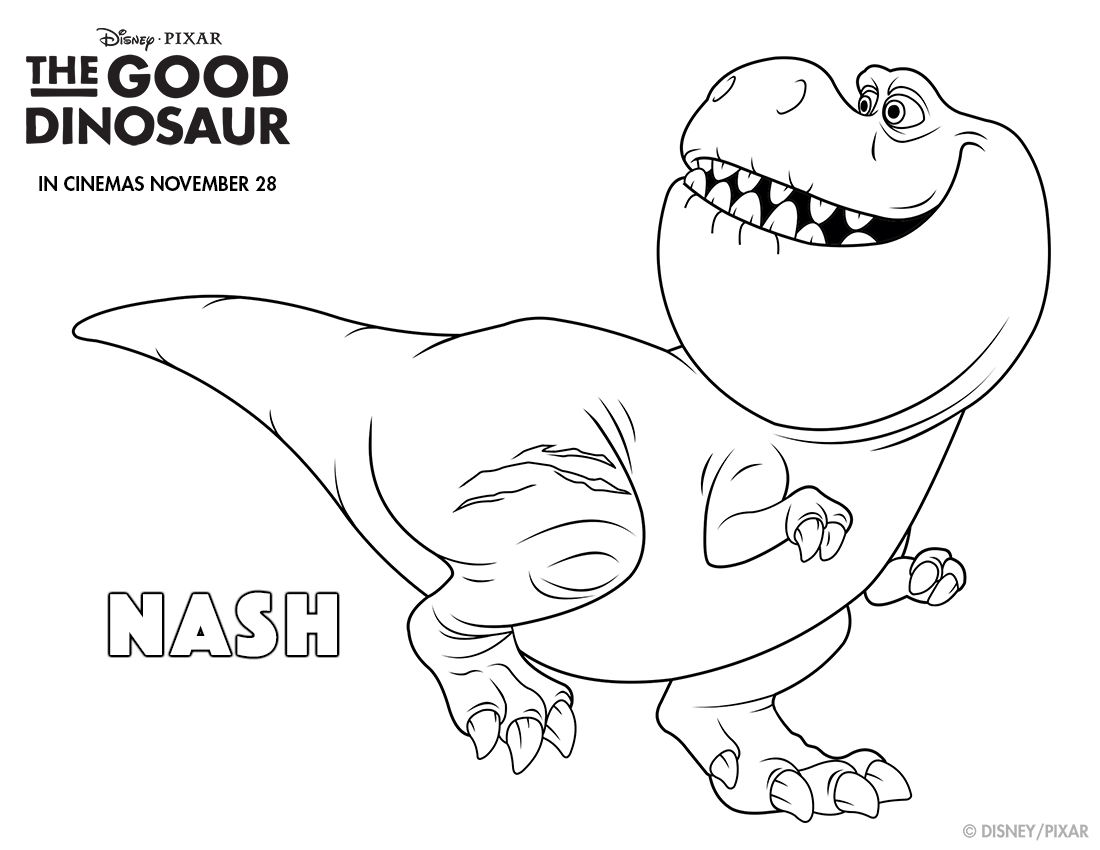 The Good Dinosaur Nash Colouring page