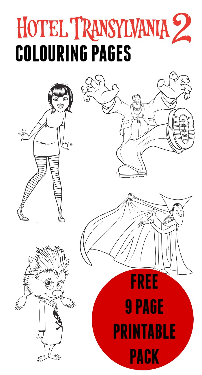 Hotel Transylvania Colouring Pages In The Playroom