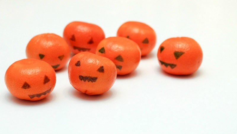 simple orange jack o lanterns for Halloween
