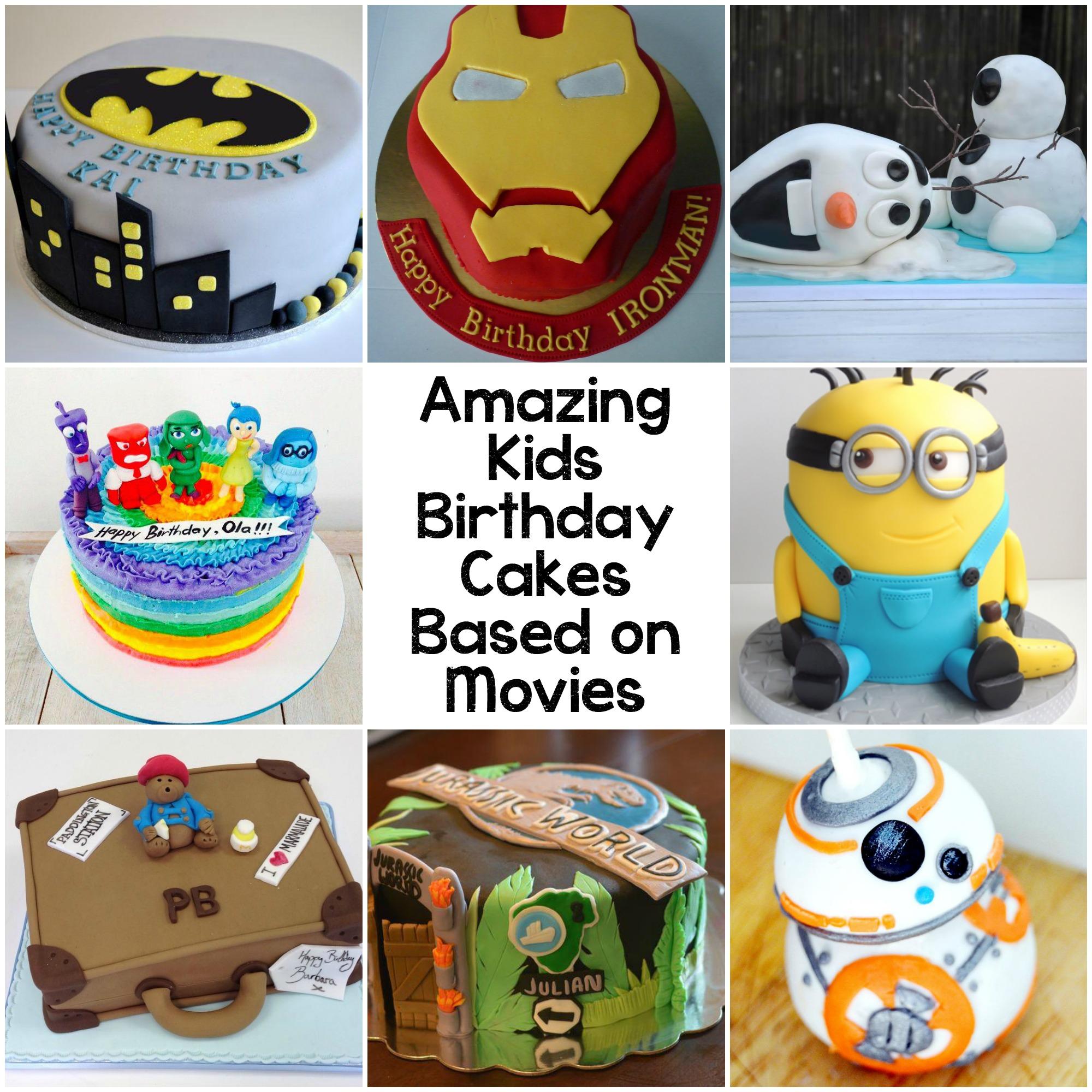 Fantastic 10 Amazing Kids Birthday Cakes Based On Movies In The Playroom Funny Birthday Cards Online Kookostrdamsfinfo