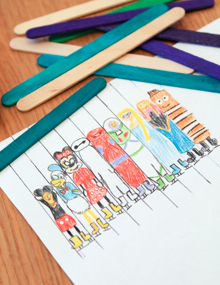 disney character drawings