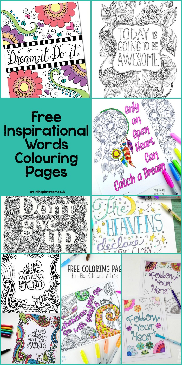 15 free grown up colouring pages with inspirational words and quotes