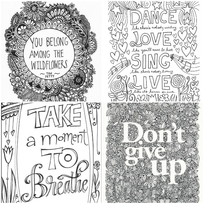 shakespeare quotes coloring pages - inspirational words grown up colouring pages in the playroom