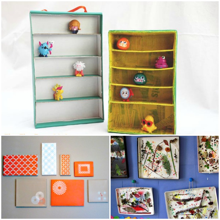 creative ideas to make with cardboard shoe boxes in the