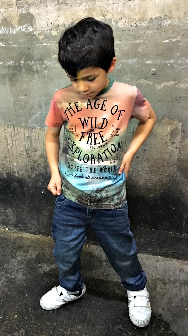 FG4 boys clothes the age of wild and free exploration t shirt