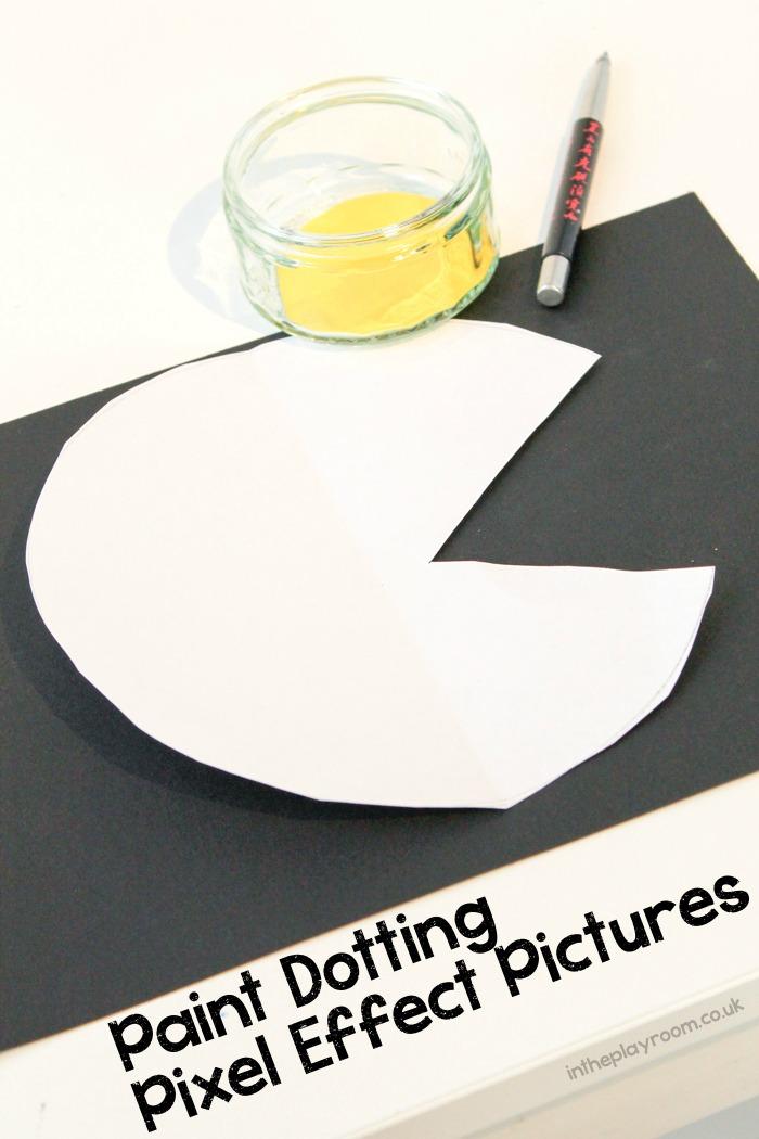 Pixel dotting paint technique for kids