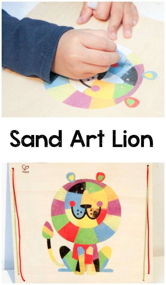 sand art lion craft