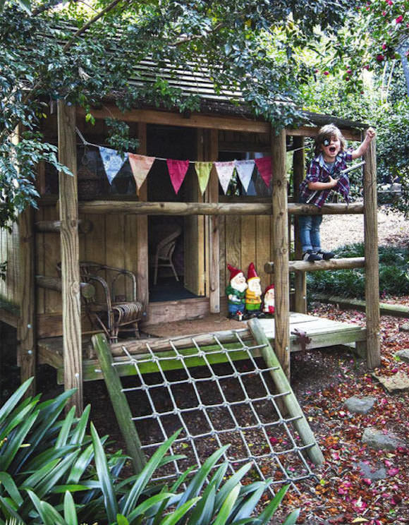 This gorgeous playhouse - Photo credit Inside Out via Handmade Charlotte