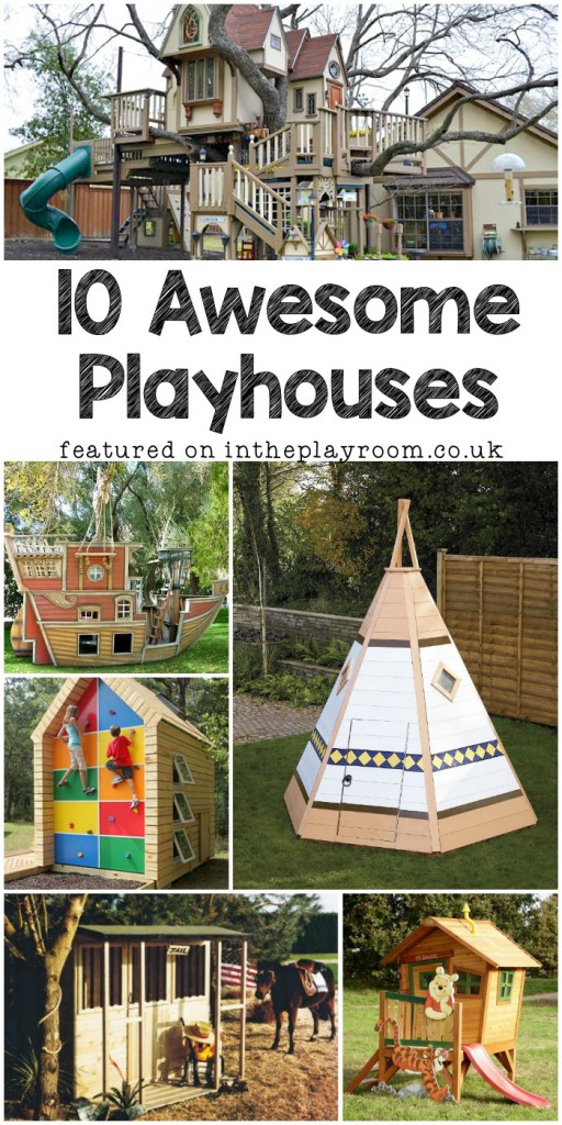 10 awesome playhouses for the back garden this summer, a mix of playhouses available to buy or DIY