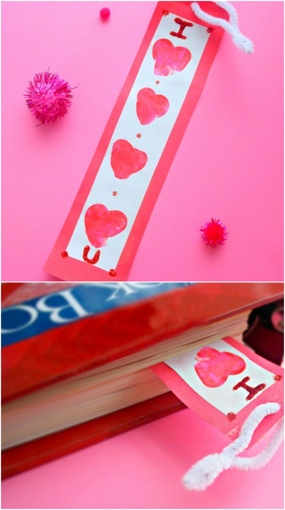 Valentines Thumbprint Heart Bookmark