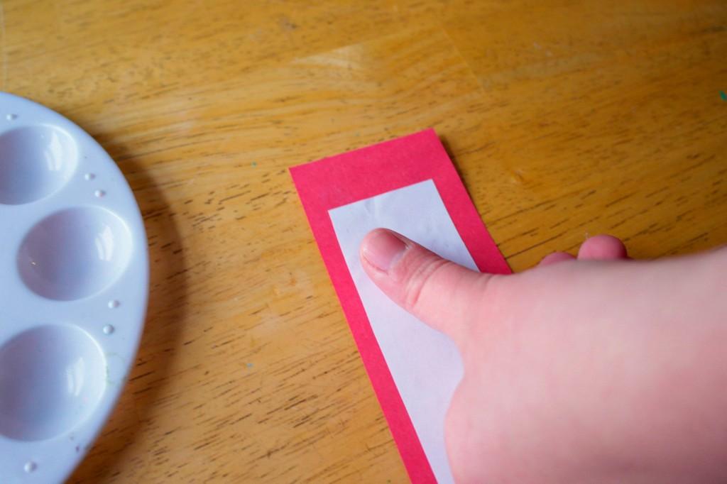 making thumb print hearts