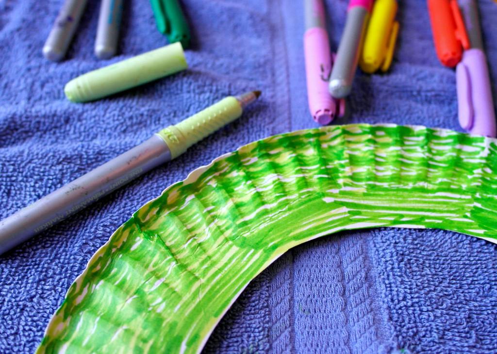 supplies for paper plate caterpillars