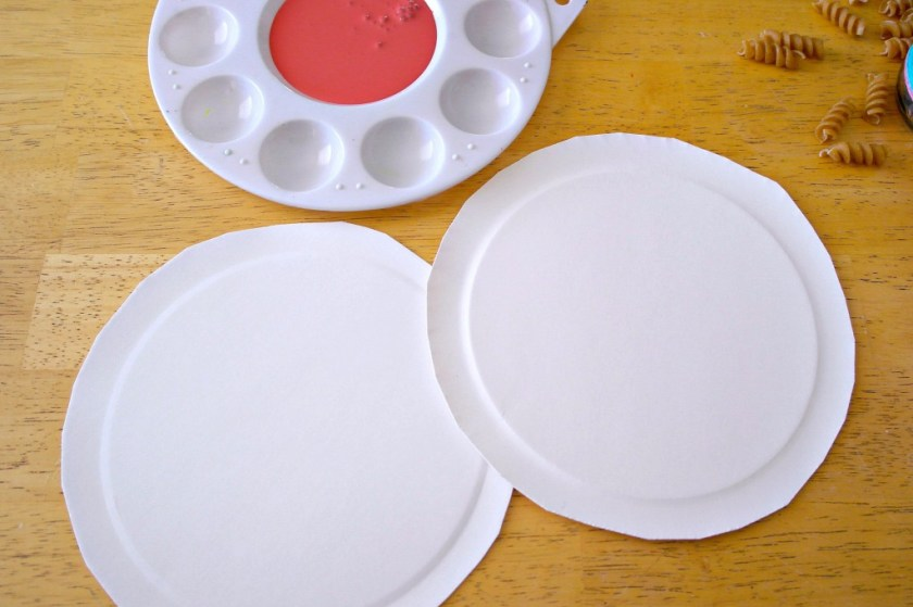 making a chinese new year shaker from paper plates