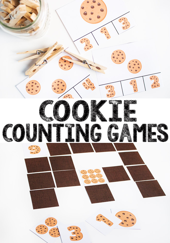 picture regarding Printable Cookies named Cookie Counting Printable Match - Within just The Playroom