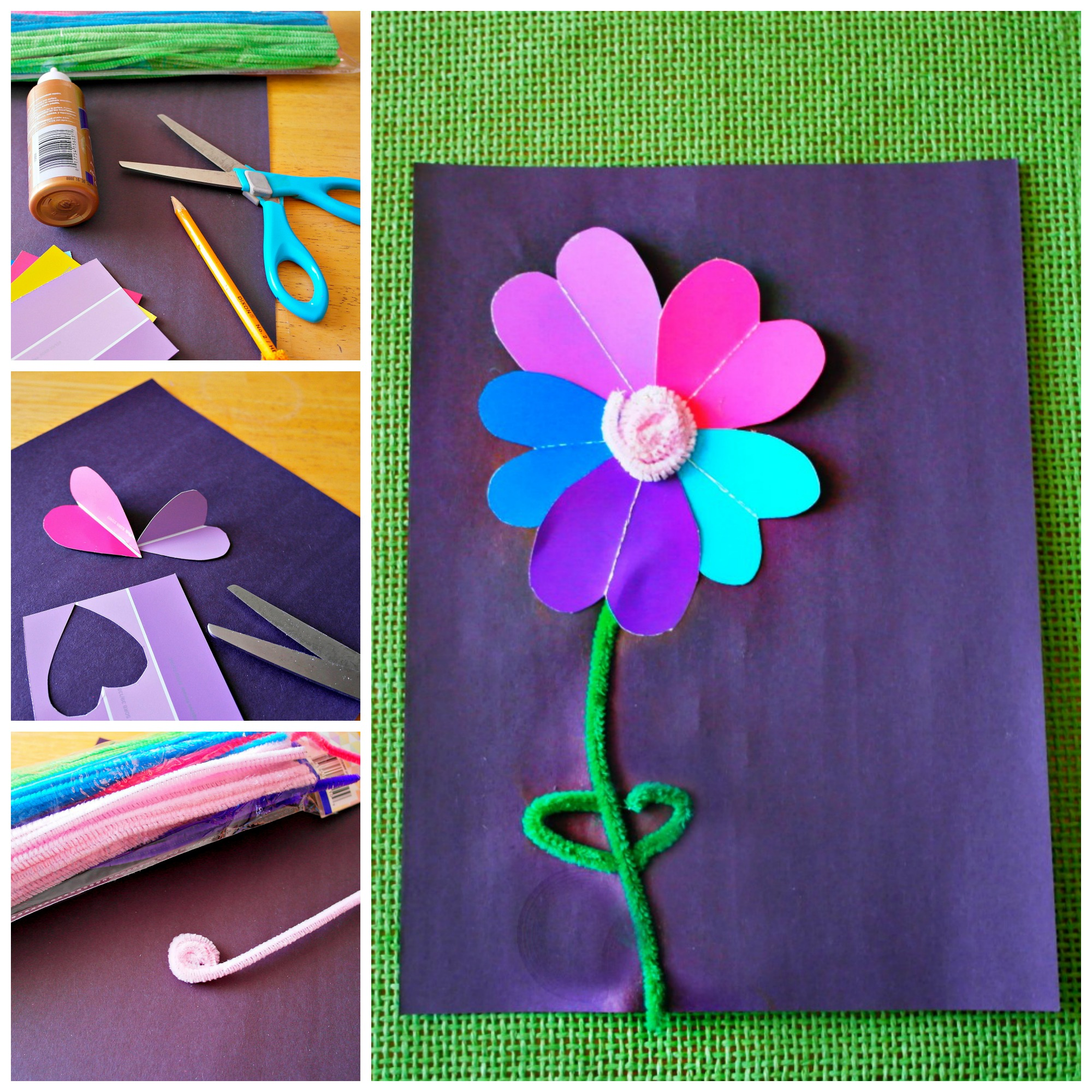 paint sample flower craft