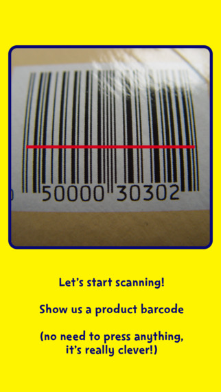 scanning a bar code with the change4life sugar smart app