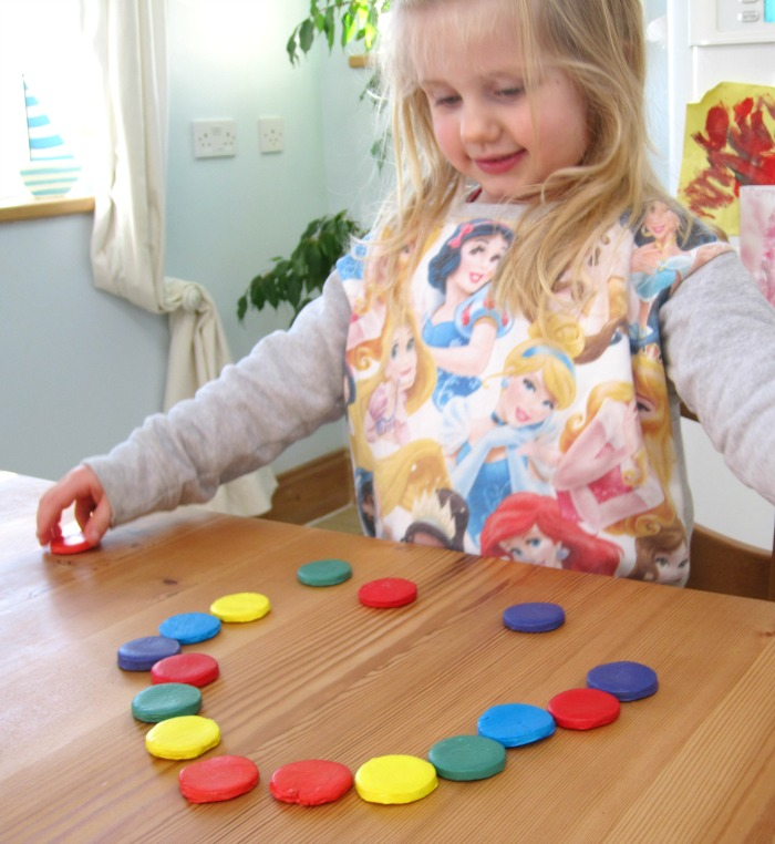 DIY Rainbow coloured disks