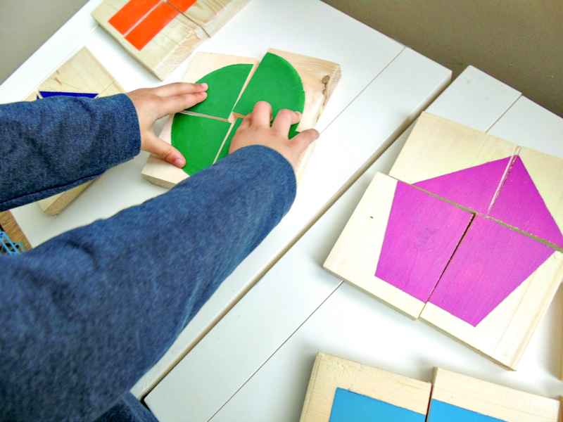 diy shape puzzles made from wood