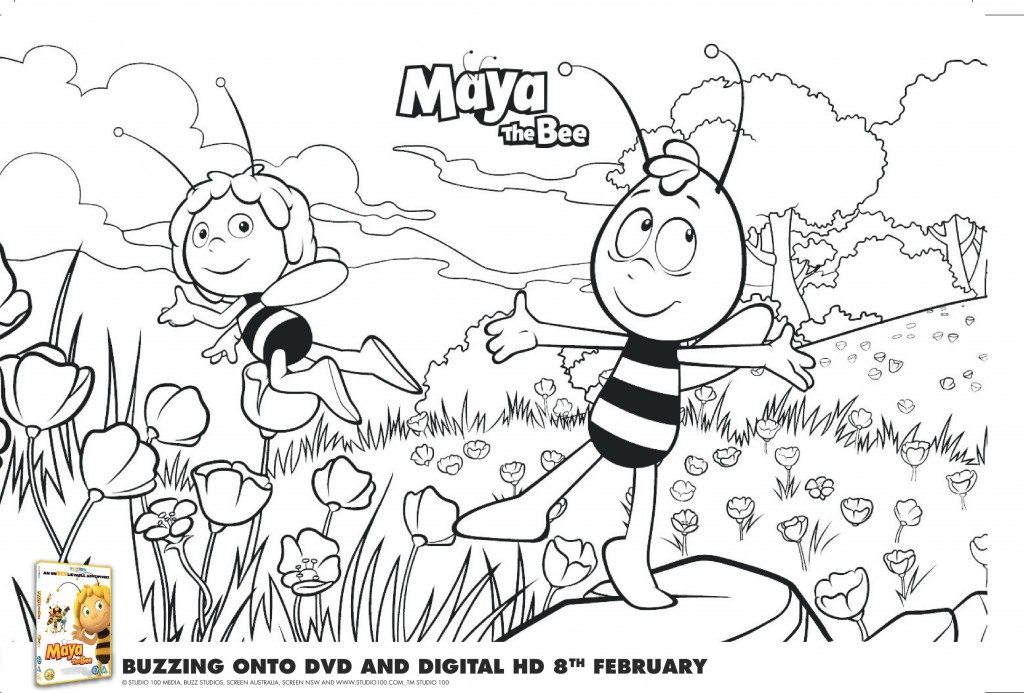 Maya the Bee Colouring Pages