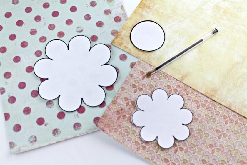 using flower template