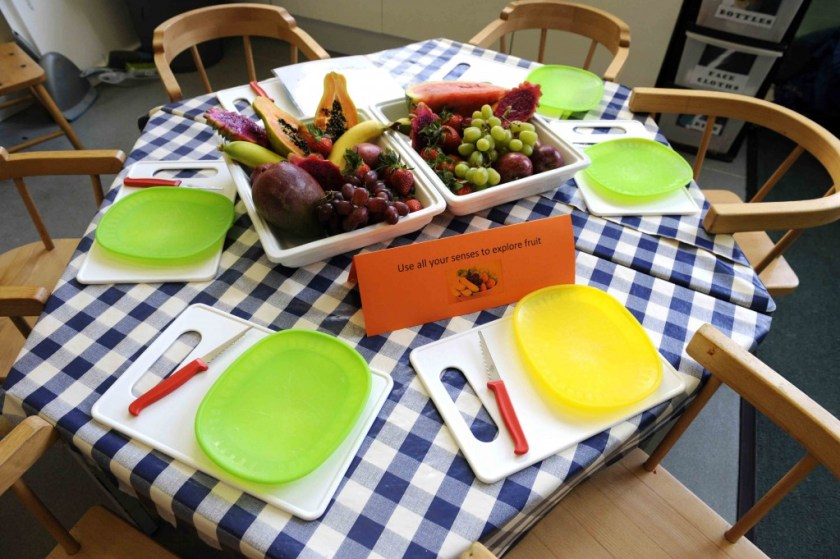 exploring fruit with all of your senses. fun fruit activity for kids
