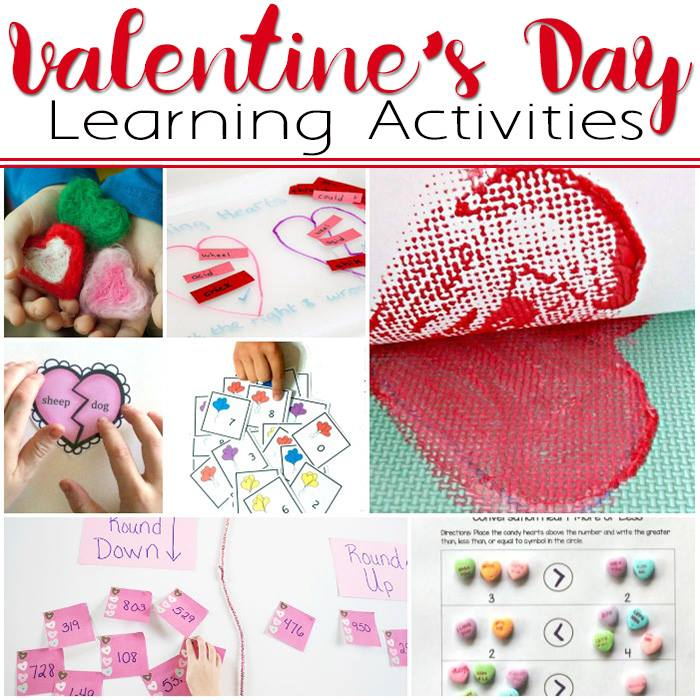 great collection of Valentines themed learning activities for KS1 / Early elementary age