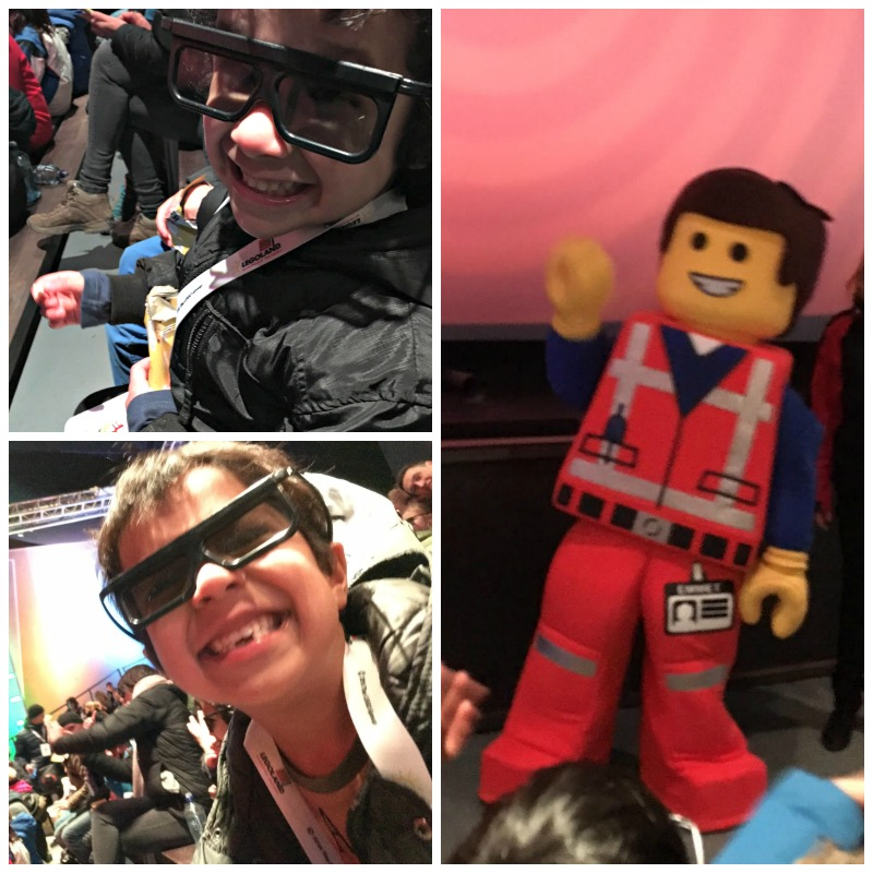 the new 4d adventure at Legoland based on the Lego movie