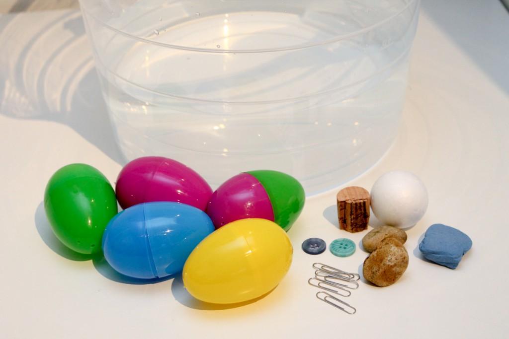 surprise egg sink or float