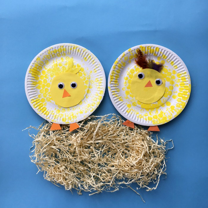 bubble wrap chicks spring craft for children