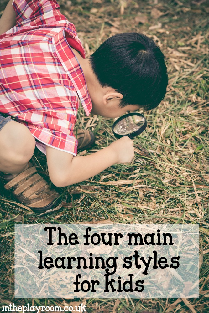 The four main learning styles for kids