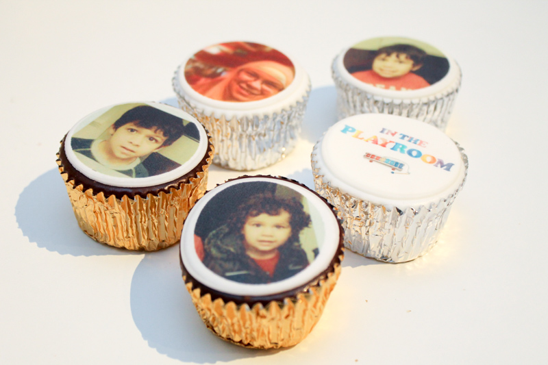 photo personalised cupcakes