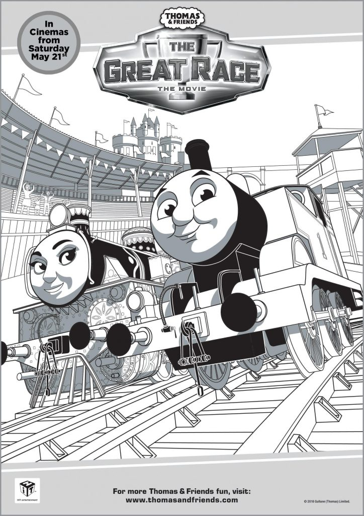 thomas and friends the great race colouring page printable