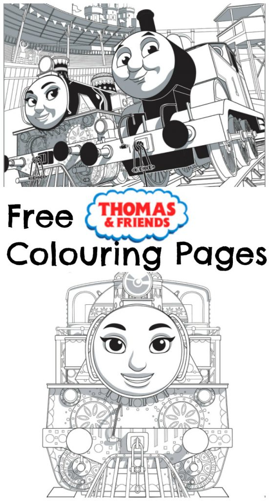 Thomas & Friends: The Great Race Colouring Pages - In The Playroom