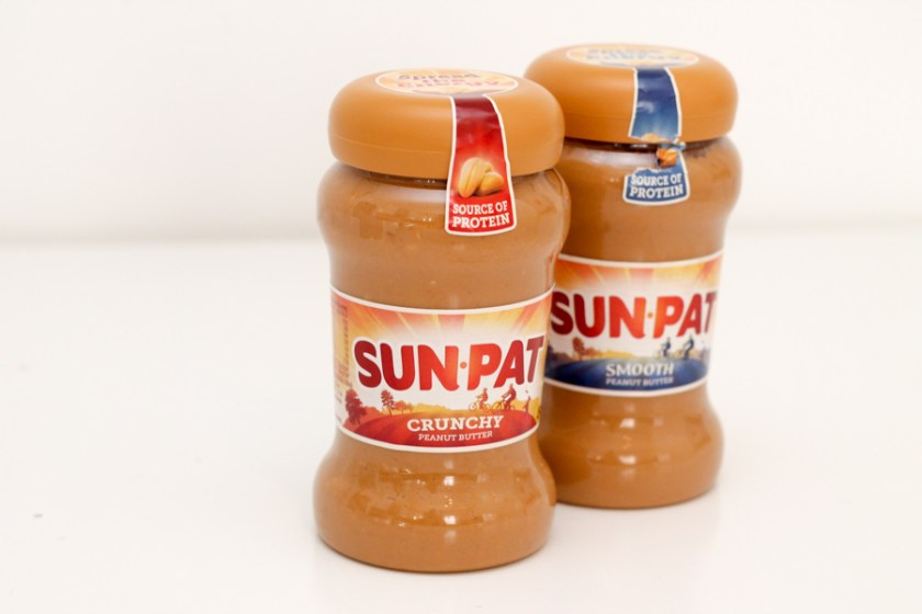 Sun-Pat peanut butter, smooth and crunchy