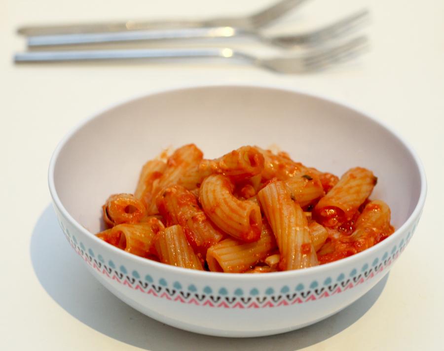 tortoglioni and basilico sauce
