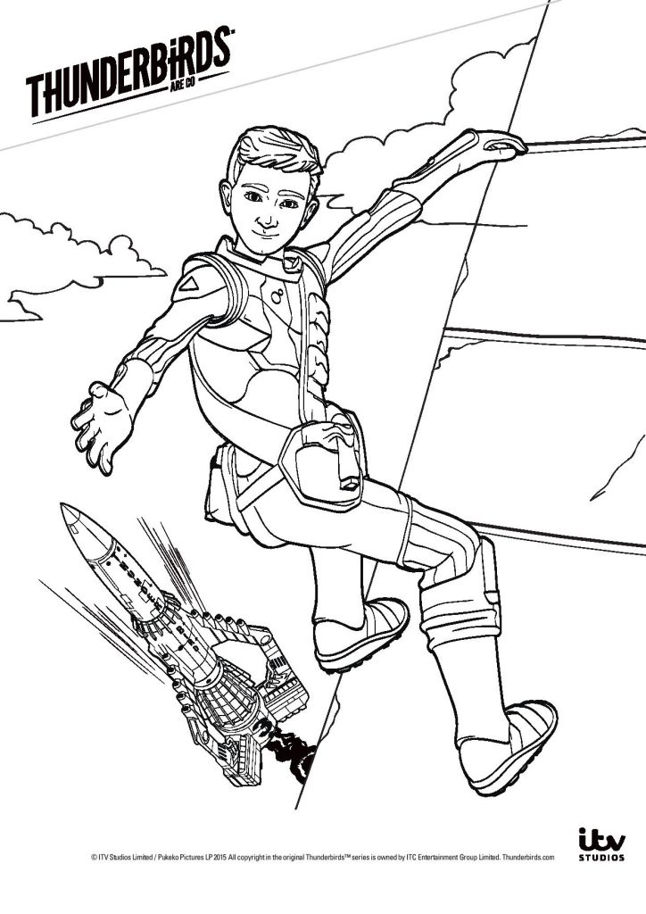 thunderbirds colouring pages