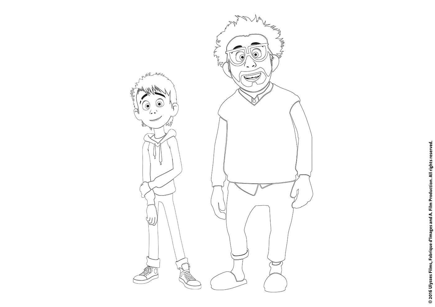 Luis and the Aliens Colouring Sheet